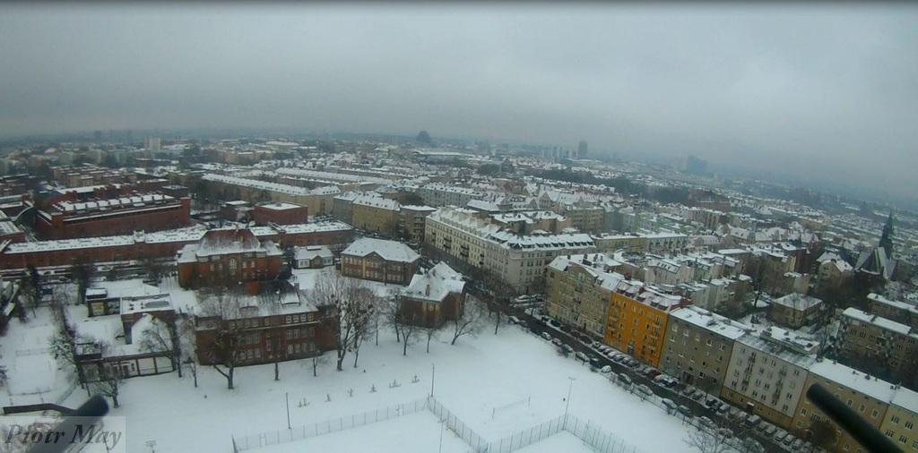 Poznańska Arena zimą