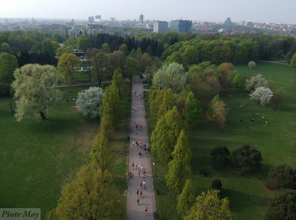 300. Parkrun w Poznaniu – z drona