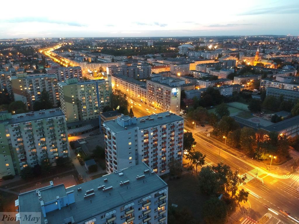 Poznań wieczorem