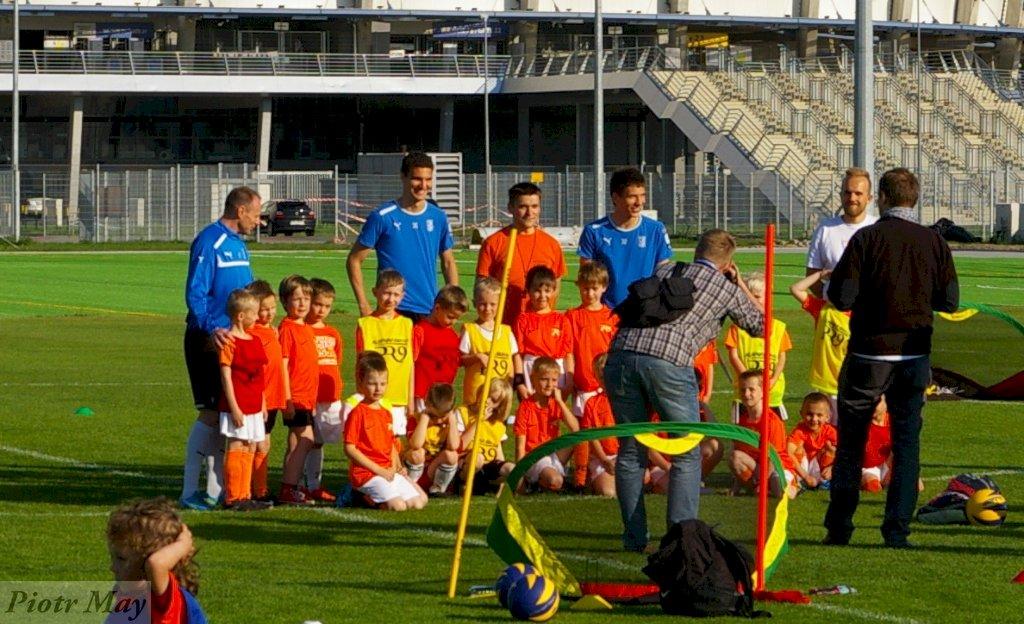 Zwiedzanie stadionu i trening z piłkarzami Lecha Poznań