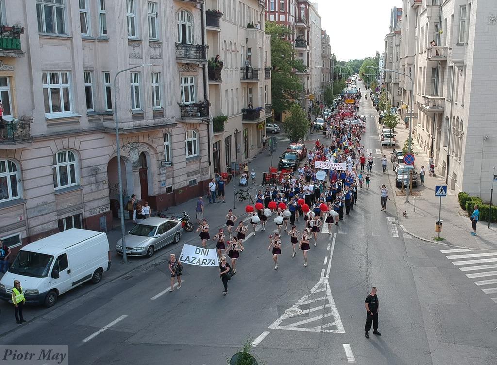Parada Łazarska z powietrza